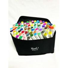 Маркеры для скетчинга, набор 80 цветов белые в сумке